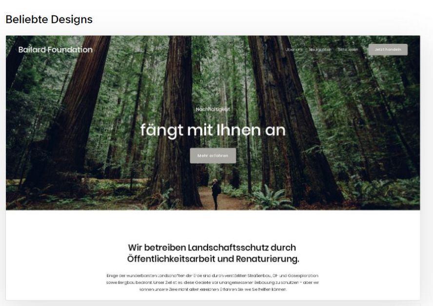 Squarespace Homepage Baukasten Webseite Screenshot