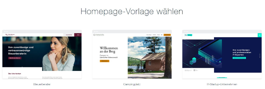 WIX Homepage-Baukasten Screenshot Webseite