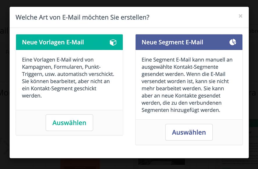 E-Mail Artne bei Mautic