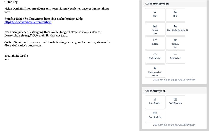 Neue E-Mail-Vorlage
