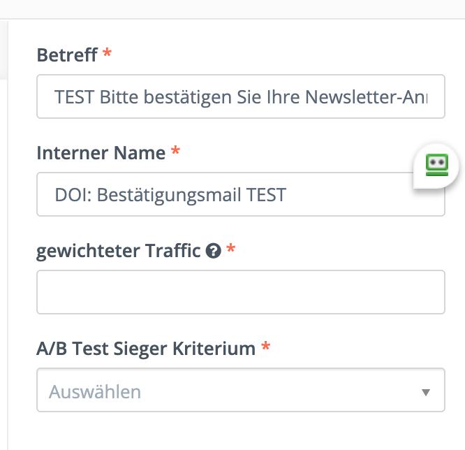 Testkriterien für A/B-Test in Mautic anlegen
