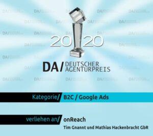 Deutscher Agenturpreis onReach