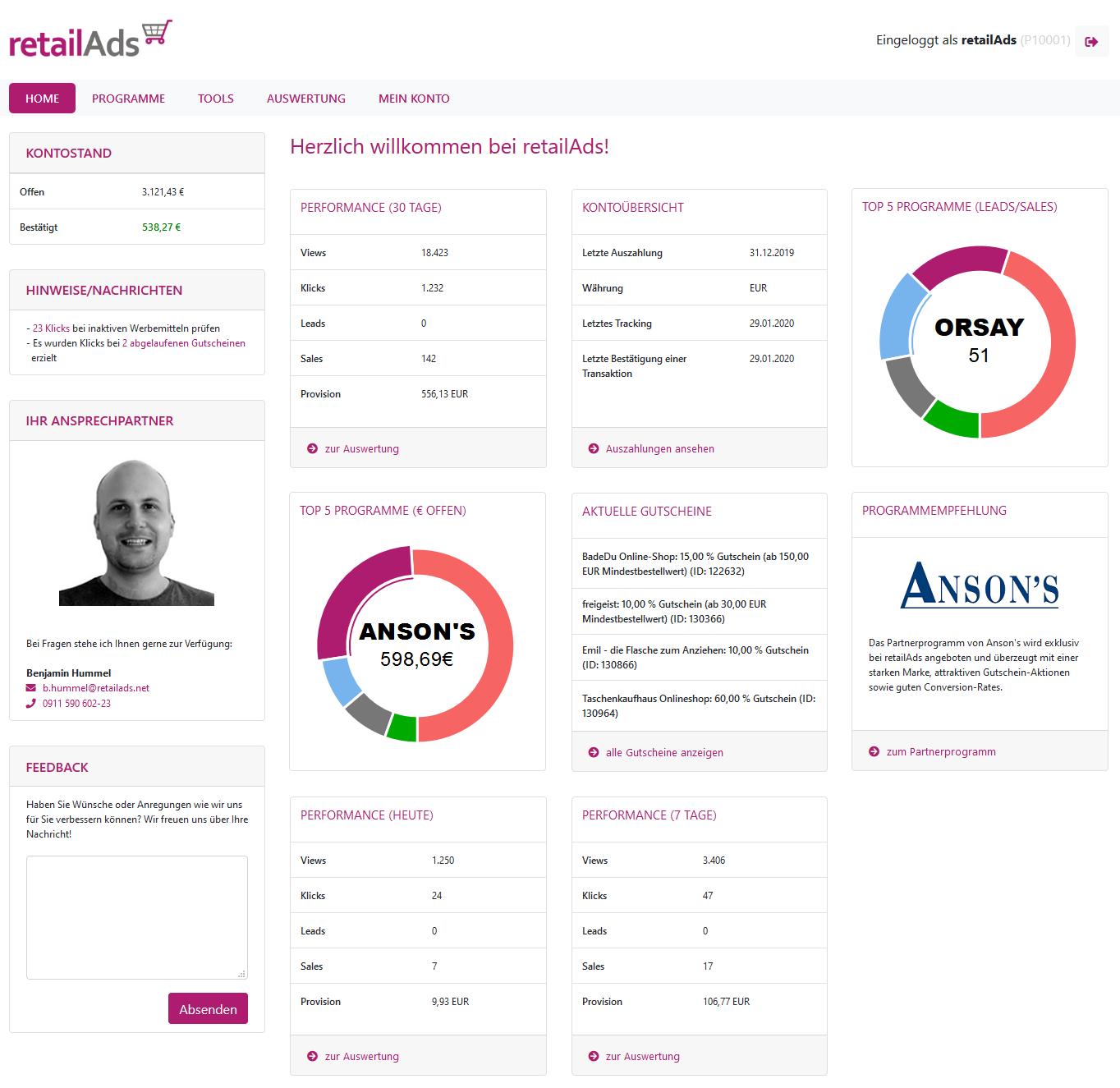 retailAds-Publisher-Startseite