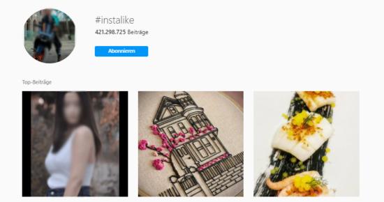 Instagram Massen Hashtag