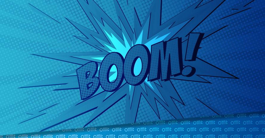 Boom Effekt für Aufmerksamkeit