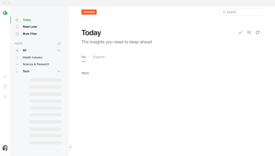 Feedly Organisation