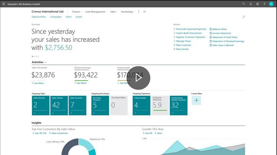 Microsoft Dynamics NAV Screenshot Webseite