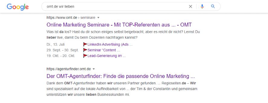 Sonderzeichen Omt.de