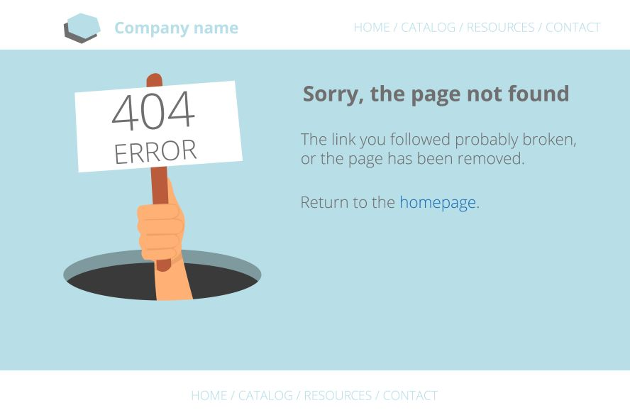 Sorry page not found