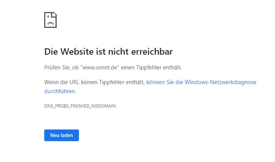 Webseite Schreibfehler