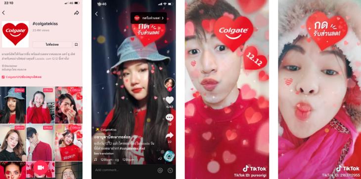 Branded Hashtag Challenge Colgate (TikTok Ads)