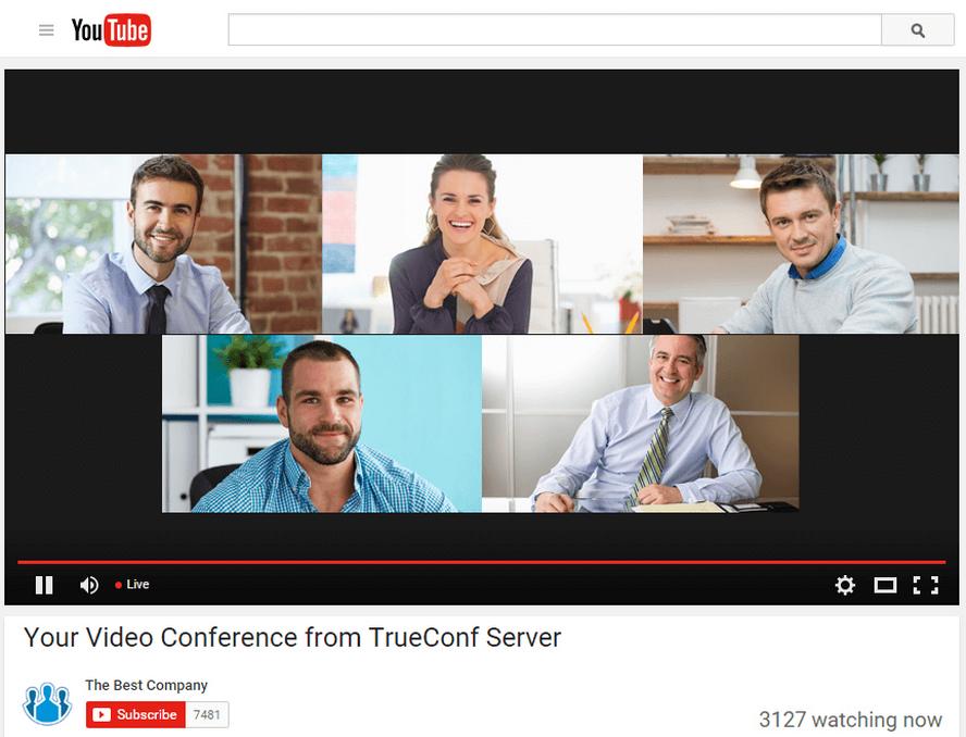 Videokonferenz-Streaming TrueConf