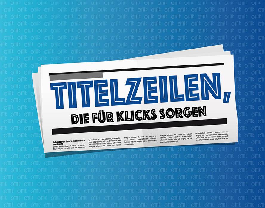 """Zeitung mit Überschrift """"Titelzeilen"""""""