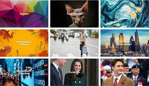 Shutterstock Kategorien
