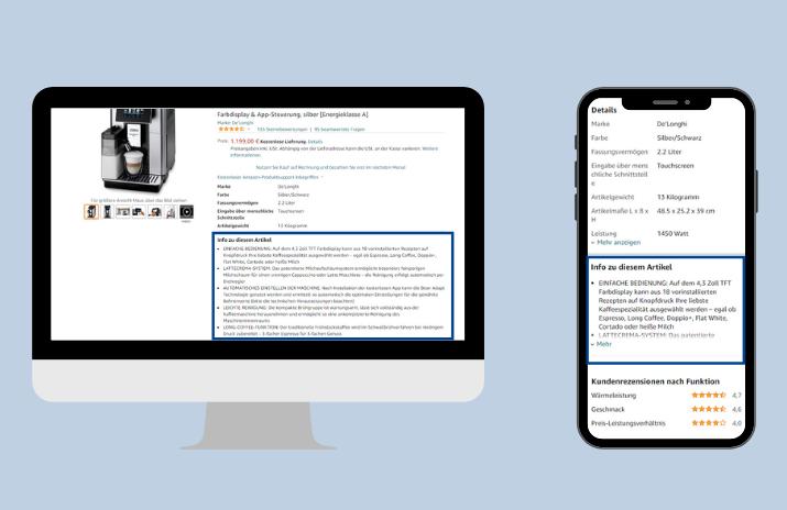 PDP Desktop vs Mobile BulletPoints