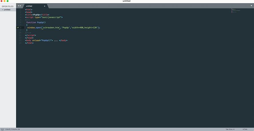 JavaScript Beispielcode. Einfache Codes versteht man bereits relativ schnell