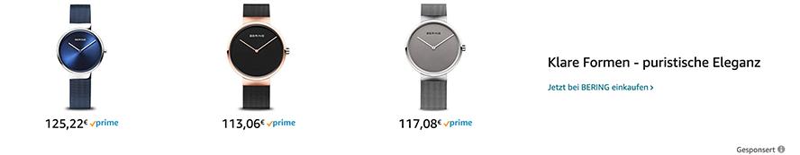 Amazon Sponsored Brands Beispiel für Aufbau einer Anzeige