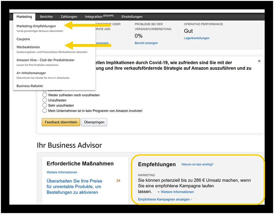 Amazon_Vendor_Businessadvisor_Empfehlungen
