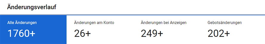 Änderungsverlauf im Google Ads Konto
