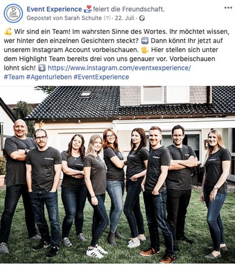 Employer Branding Post Facebook
