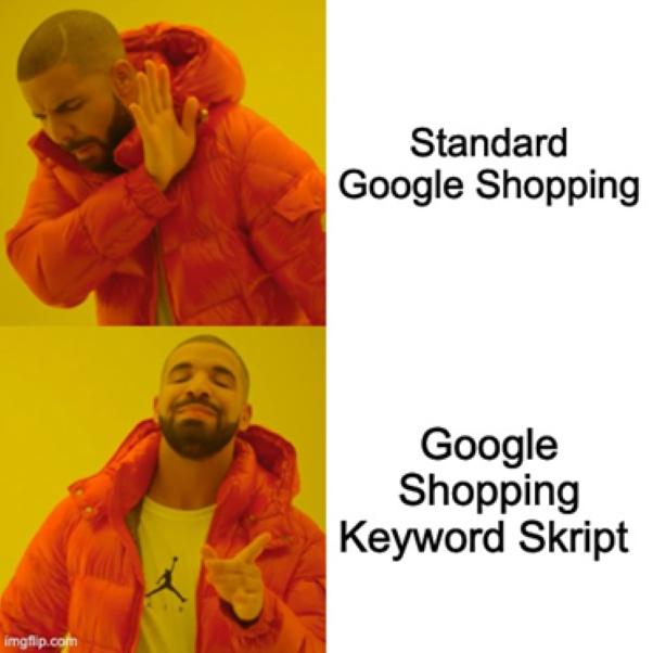 Google Shopping Meme - Drake