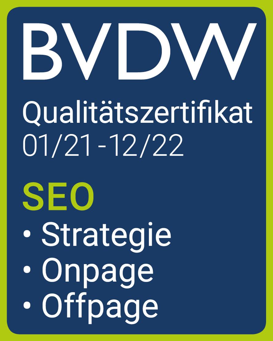 Das BVDW-Qualitätszertifikat für alle drei Bereiche