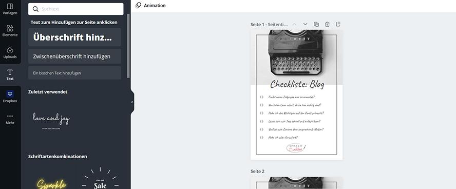 Tipp für erfolgreiche Blogartikel Canva