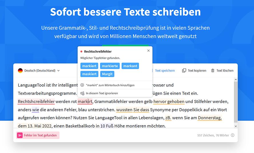 Tipp für erfolgreiche Blogartikel LanguageTool