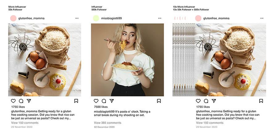 Influencer-Story glutenfreies Brot