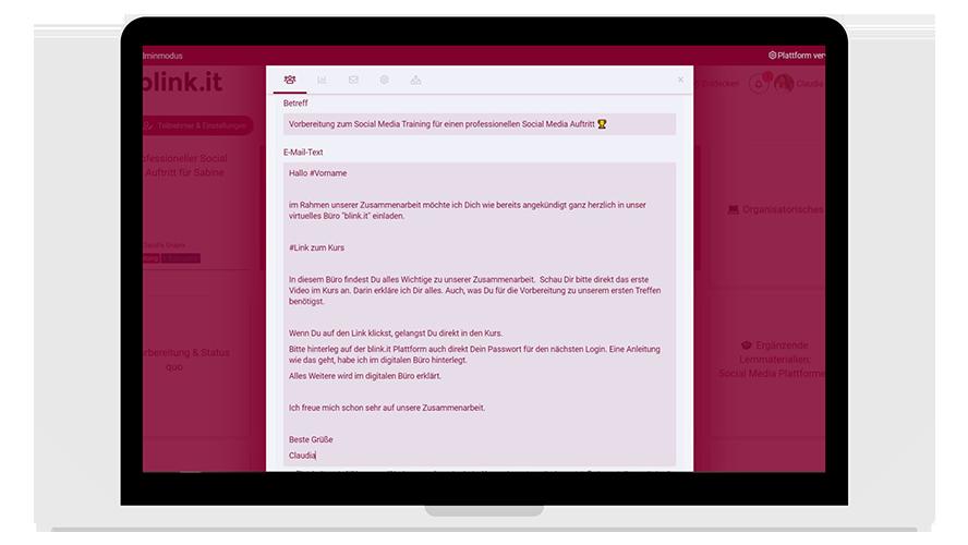 E-Mail Einladung als Text