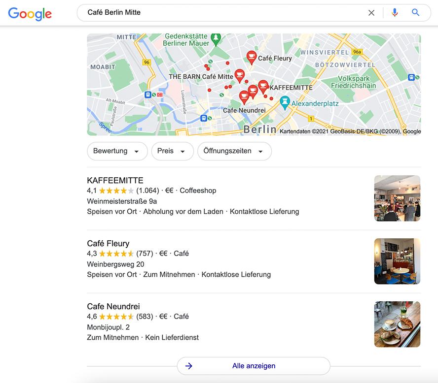 Google-Maps-Beitrag 3_Screenshot_Local-3-Pack_Café-Berlin-Mitte