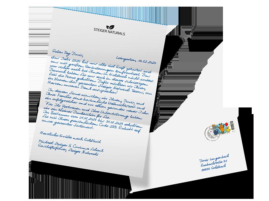 handgeschriebene briefe mailing