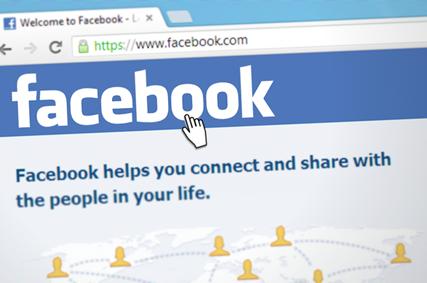 Abbildung Facebook Website