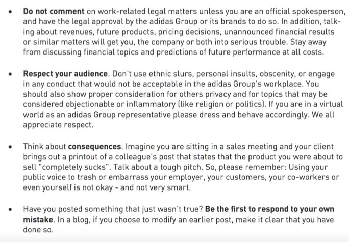 Code of Conduct adidas