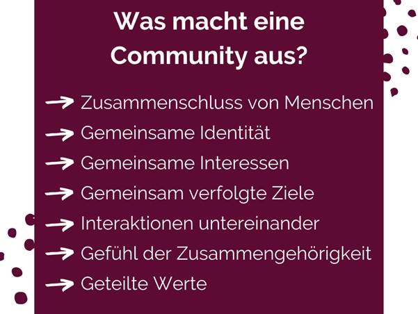Die Eigenschaften einer Community