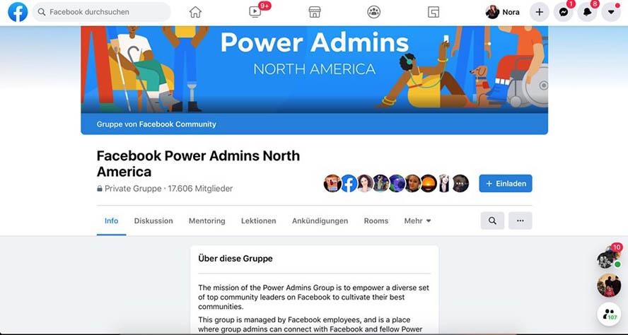 Facebook Power Admin Gruppe