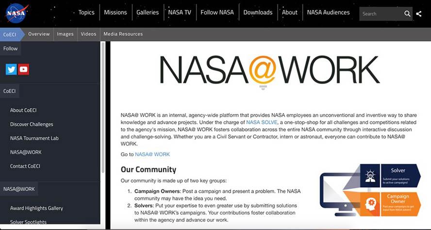 Nasa@work interne Nasa Community