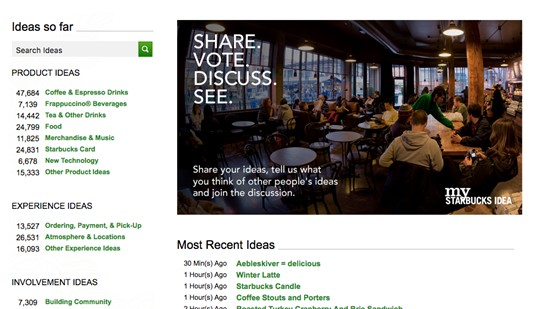 Satrbucks Product Community
