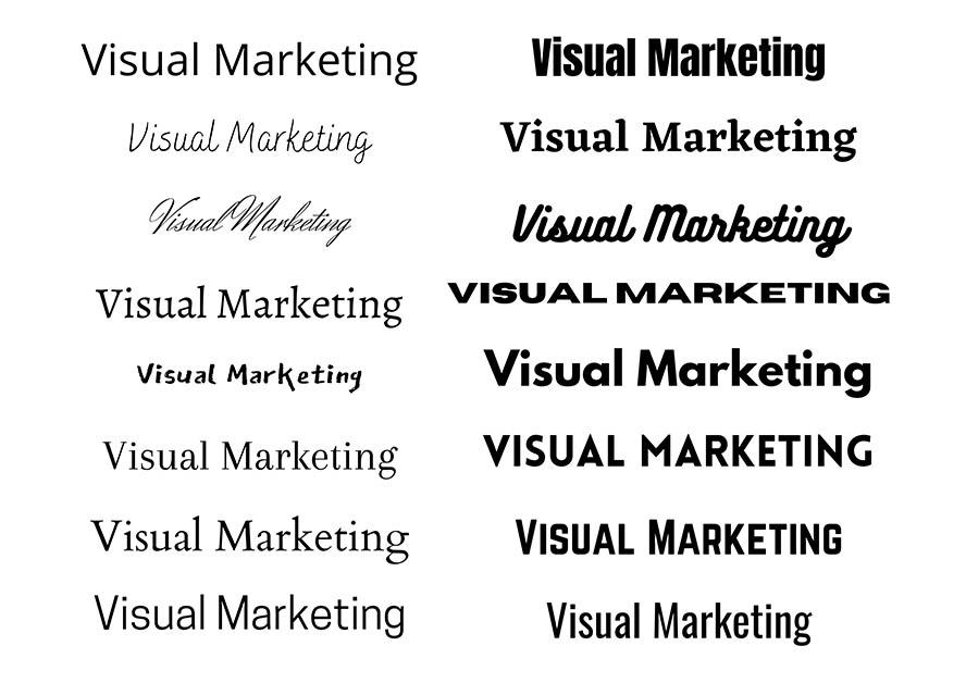 Typografie im Visual Marketing