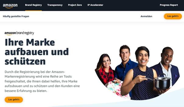 Amazon Brand Registry Anmeldung