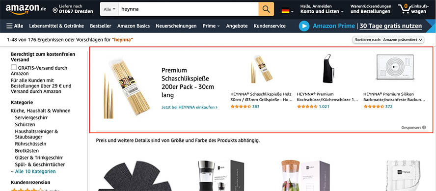 Sponsored Brand Ads Heynna