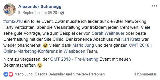 Alexander Schönegg - Unser Recap zum OMT 2018