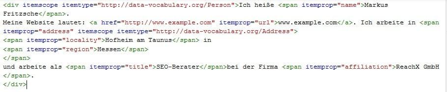 Beispiel 2 - Was sind strukturierte Daten und wie werden sie eingesetzt?