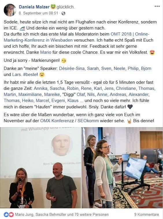 Daniela Malzer 2 - Unser Recap zum OMT 2018