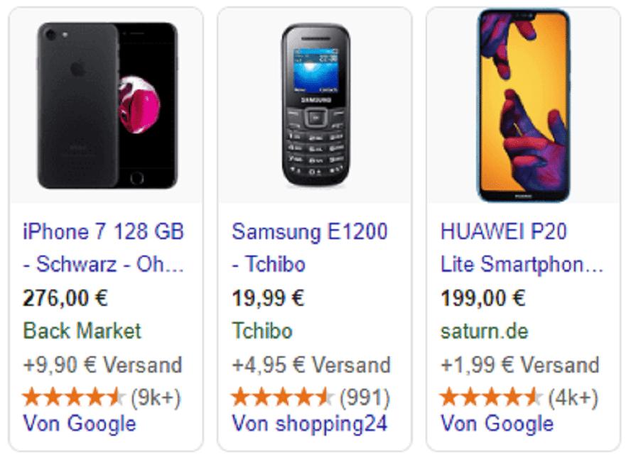 Google Shopping Produktbewertungen