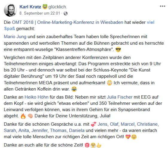 Karl Kratz 1 - Unser Recap zum OMT 2018
