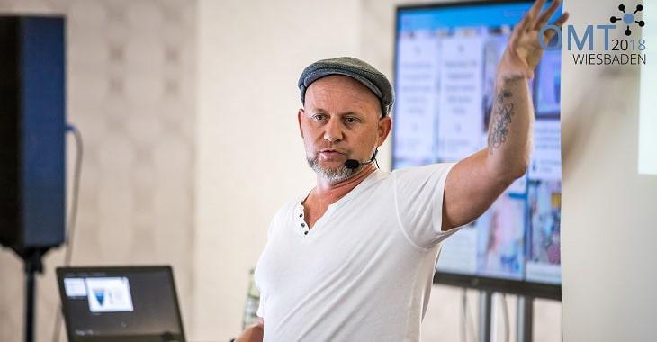 OMT-Experte Olaf Kopp während seinem Vortrag beim OMT 2018