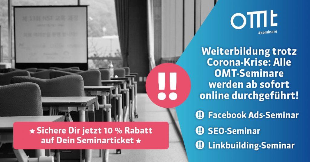 SEO-Seminar online 10%