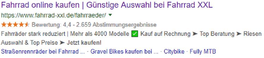 Organische Suche_Kategorieseite