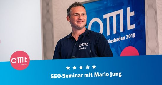 SEO-Seminar 2021 ! <br>Dein SEO-Workshop mit Mario Jung